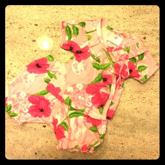 mad sky Other - Mad Sky Baby 0-3 Month 2 Pc Kimono Set